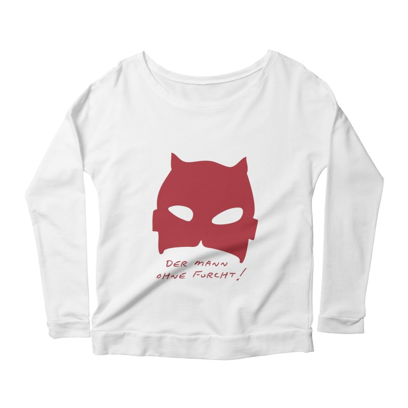 the man without fear Women's Scoop Neck Longsleeve T-Shirt by 8 TV Artist Shop