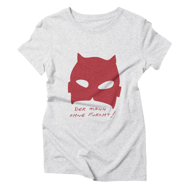 the man without fear Women's Triblend T-Shirt by 8 TV Artist Shop