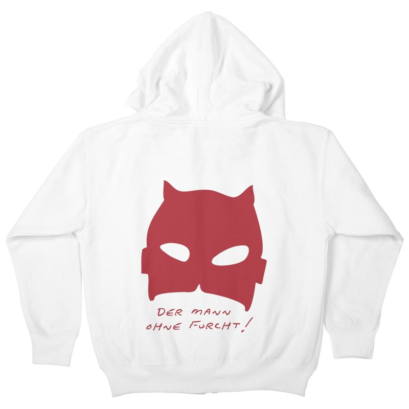 the man without fear Kids Zip-Up Hoody by 8 TV Artist Shop