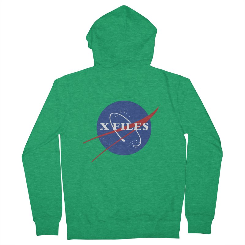 the nasa files Men's French Terry Zip-Up Hoody by 8 TV Artist Shop