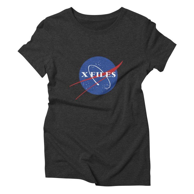 the nasa files Women's Triblend T-shirt by 8 TV Artist Shop
