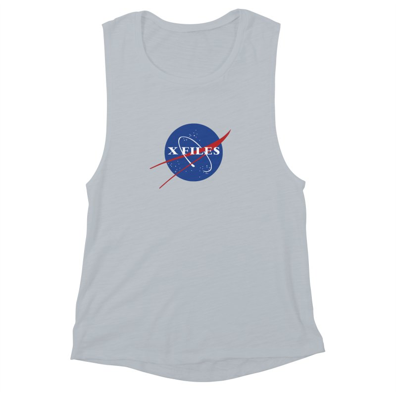 the nasa files Women's Muscle Tank by 8 TV Artist Shop