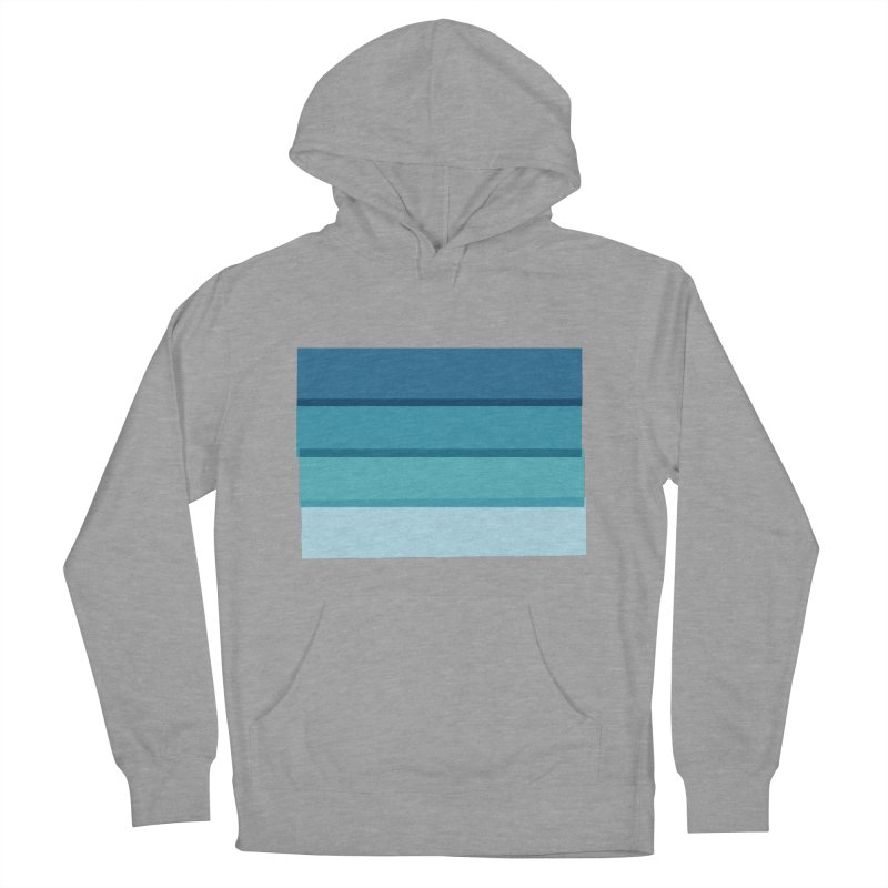 Bleu Women's Pullover Hoody by 8 TV Artist Shop