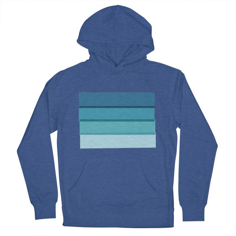 Bleu Men's Pullover Hoody by 8 TV Artist Shop