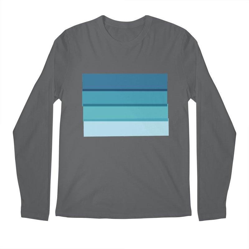 Bleu Men's Longsleeve T-Shirt by 8 TV Artist Shop