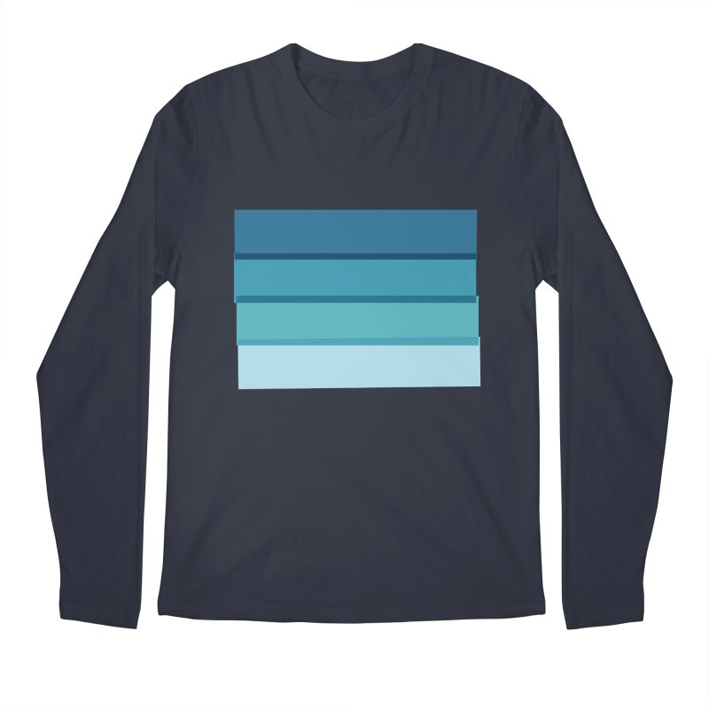 Bleu Men's Longsleeve T-Shirt by 8 TV Artist Shop