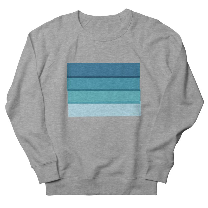 Bleu Women's French Terry Sweatshirt by 8 TV Artist Shop