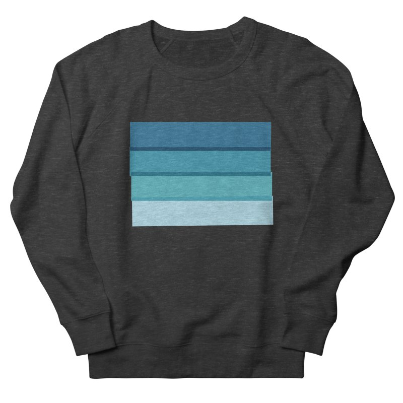 Bleu Men's French Terry Sweatshirt by 8 TV Artist Shop