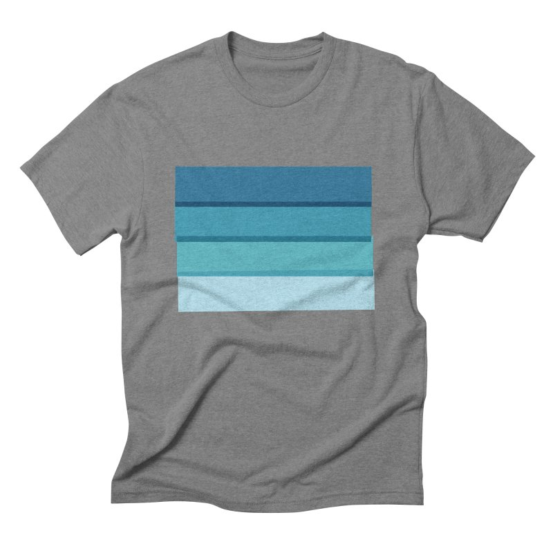 Bleu Men's Triblend T-Shirt by 8 TV Artist Shop
