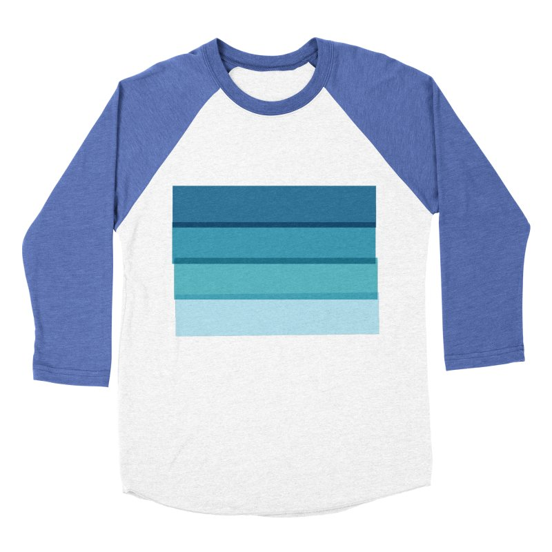 Bleu Women's Baseball Triblend Longsleeve T-Shirt by 8 TV Artist Shop