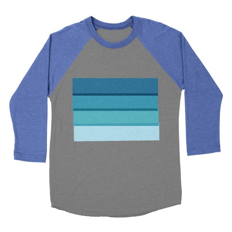 Bleu Men's Baseball Triblend T-Shirt by 8 TV Artist Shop