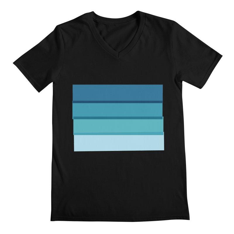 Bleu Men's V-Neck by 8 TV Artist Shop