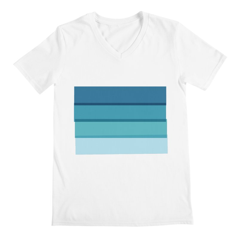 Bleu Men's Regular V-Neck by 8 TV Artist Shop