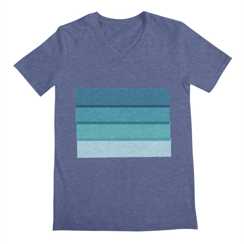 Bleu Men's V-Neck by 8 TV Artist Shop
