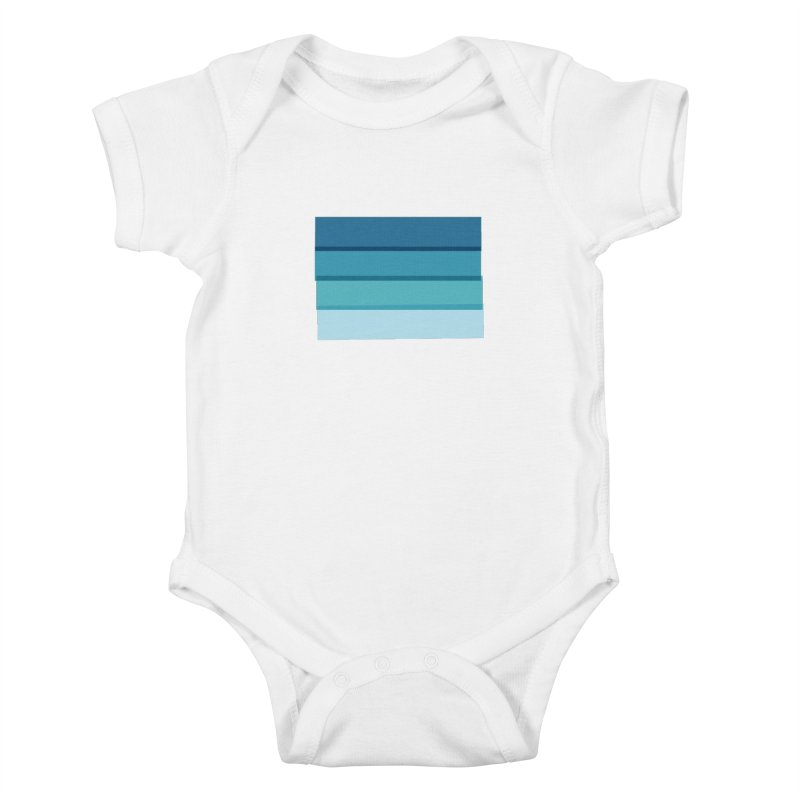 Bleu Kids Baby Bodysuit by 8 TV Artist Shop