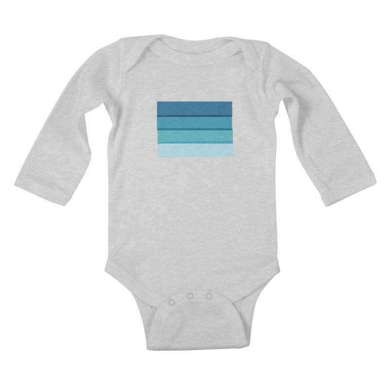 Bleu Kids Baby Longsleeve Bodysuit by 8 TV Artist Shop
