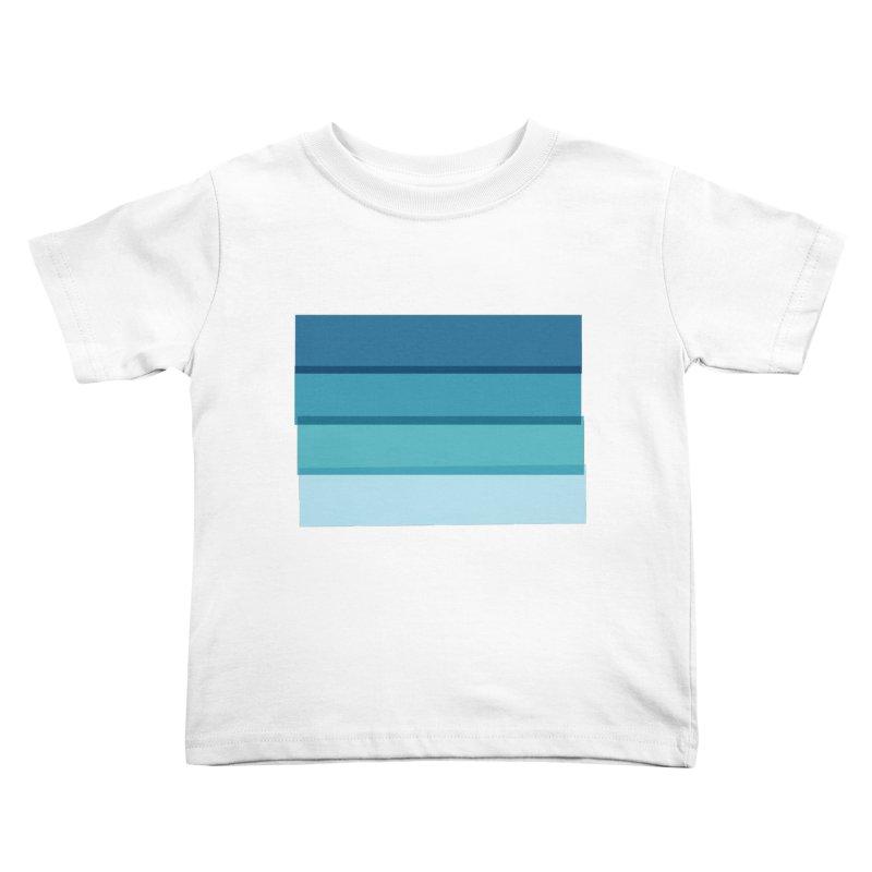 Bleu Kids Toddler T-Shirt by 8 TV Artist Shop