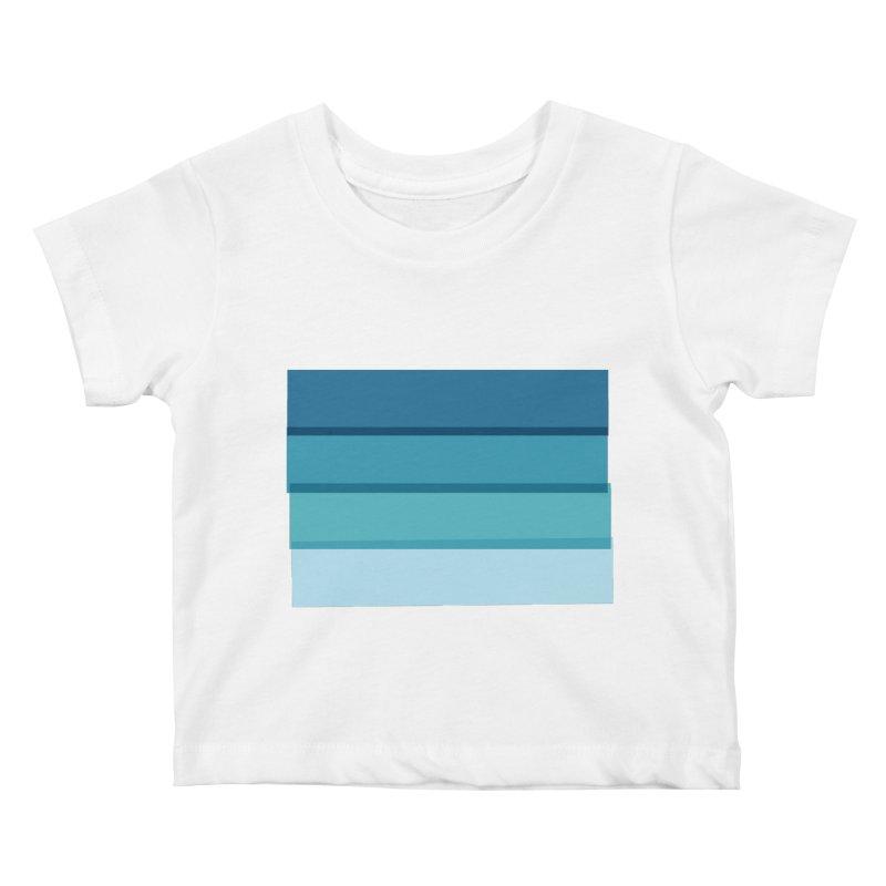 Bleu Kids Baby T-Shirt by 8 TV Artist Shop