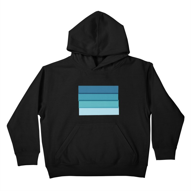 Bleu Kids Pullover Hoody by 8 TV Artist Shop