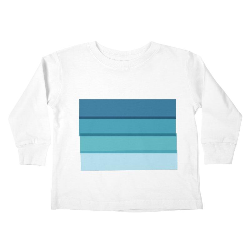 Bleu Kids Toddler Longsleeve T-Shirt by 8 TV Artist Shop