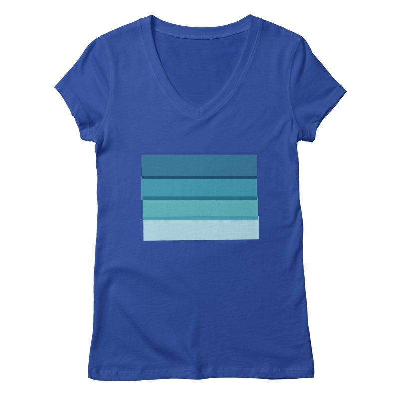 Bleu Women's V-Neck by 8 TV Artist Shop