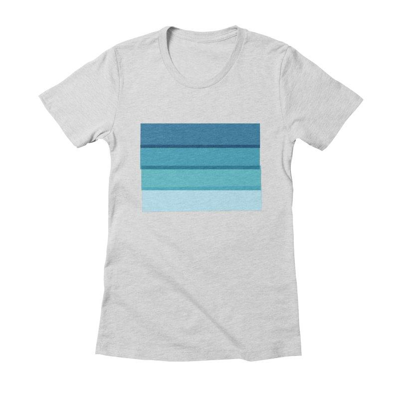 Bleu Women's Fitted T-Shirt by 8 TV Artist Shop
