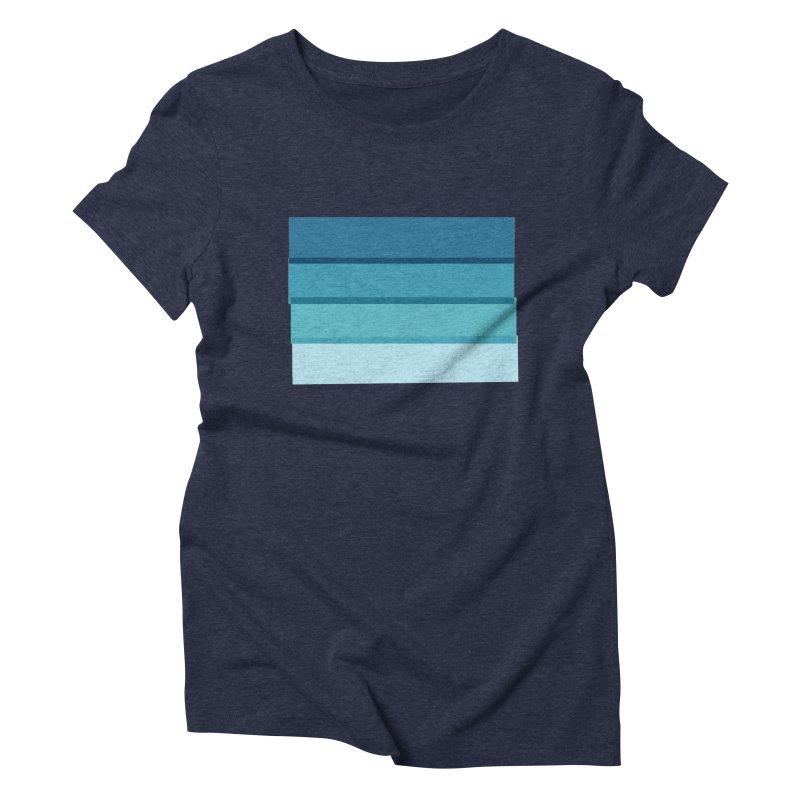 Bleu Women's Triblend T-shirt by 8 TV Artist Shop