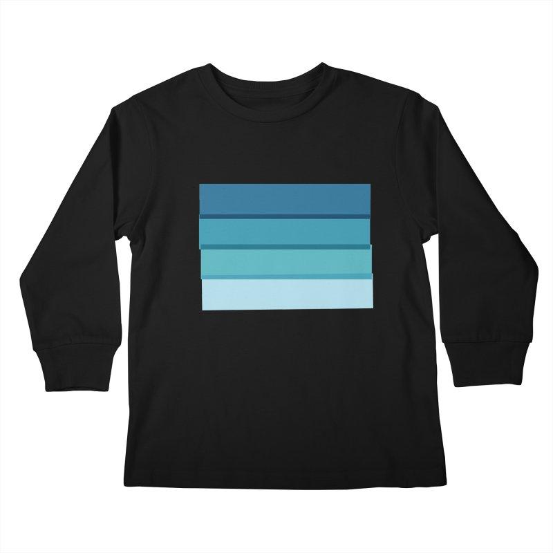 Bleu Kids Longsleeve T-Shirt by 8 TV Artist Shop