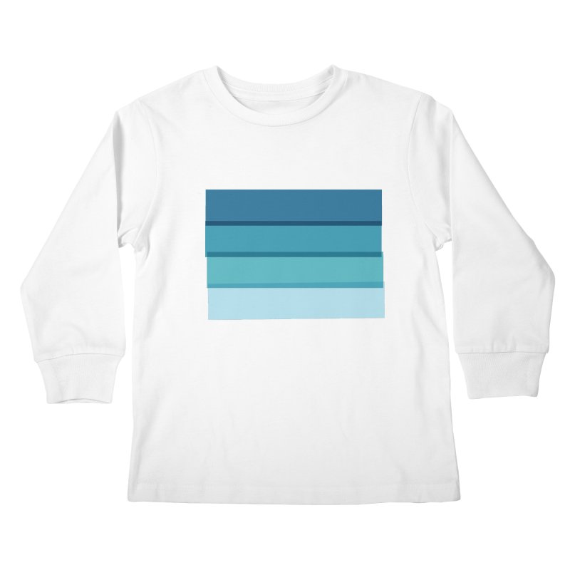 Bleu Kids Longsleeve T-Shirt by 8 TV Artist Shop