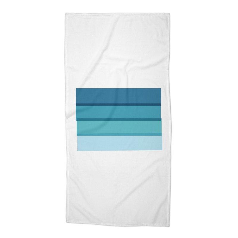 Bleu Accessories Beach Towel by 8 TV Artist Shop