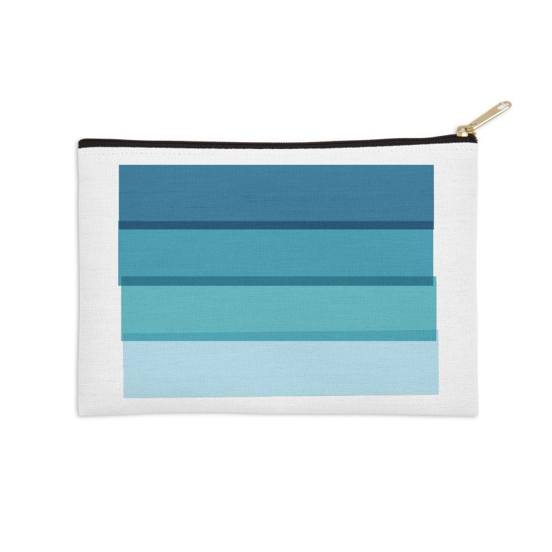 Bleu Accessories Zip Pouch by 8 TV Artist Shop