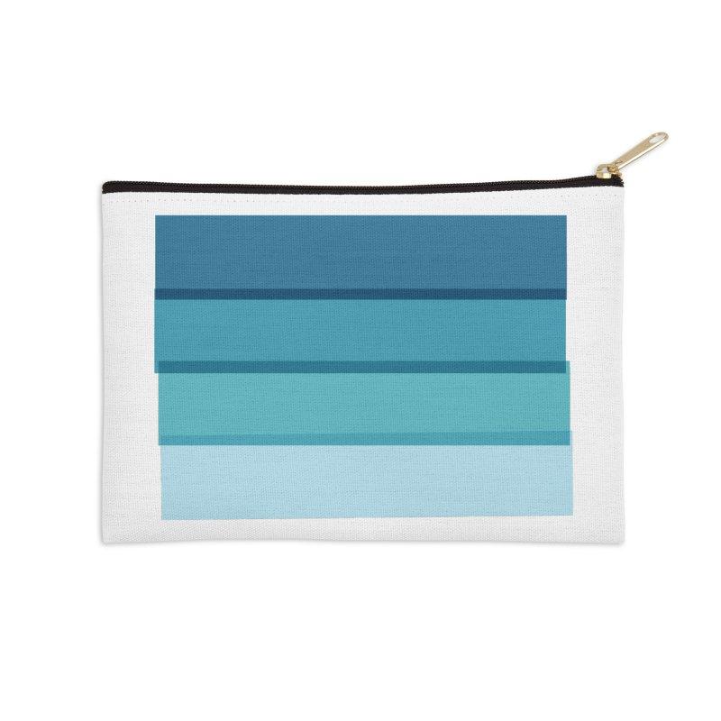 Bleu Accessories Zip Pouch by 8 TV Artist Shop