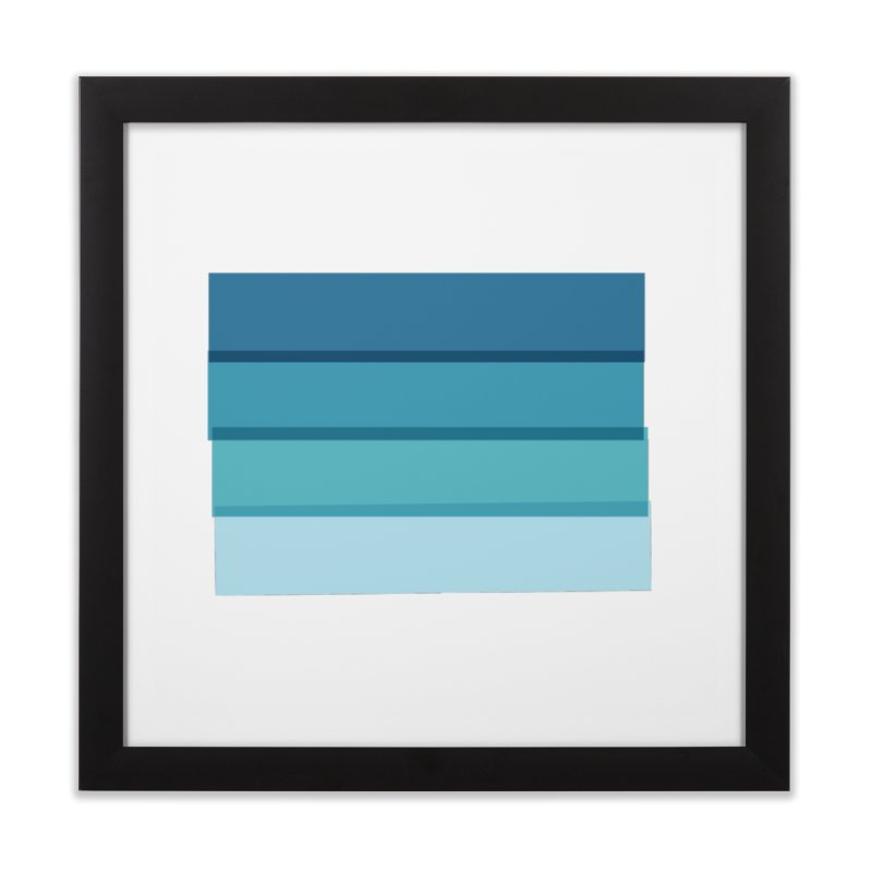 Bleu Home Framed Fine Art Print by 8 TV Artist Shop