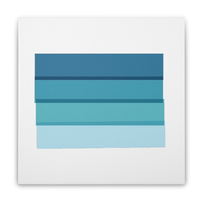 Bleu Home Stretched Canvas by 8 TV Artist Shop
