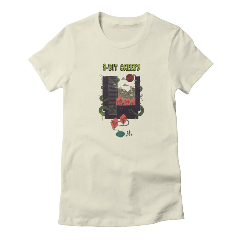 Cartridge Canyon in Women's Fitted T-Shirt Natural by 8-bit crEEps Merch Shop
