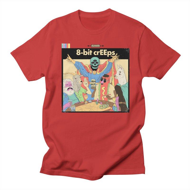 a strange little party in Men's Regular T-Shirt Red by 8-bit crEEps Merch Shop