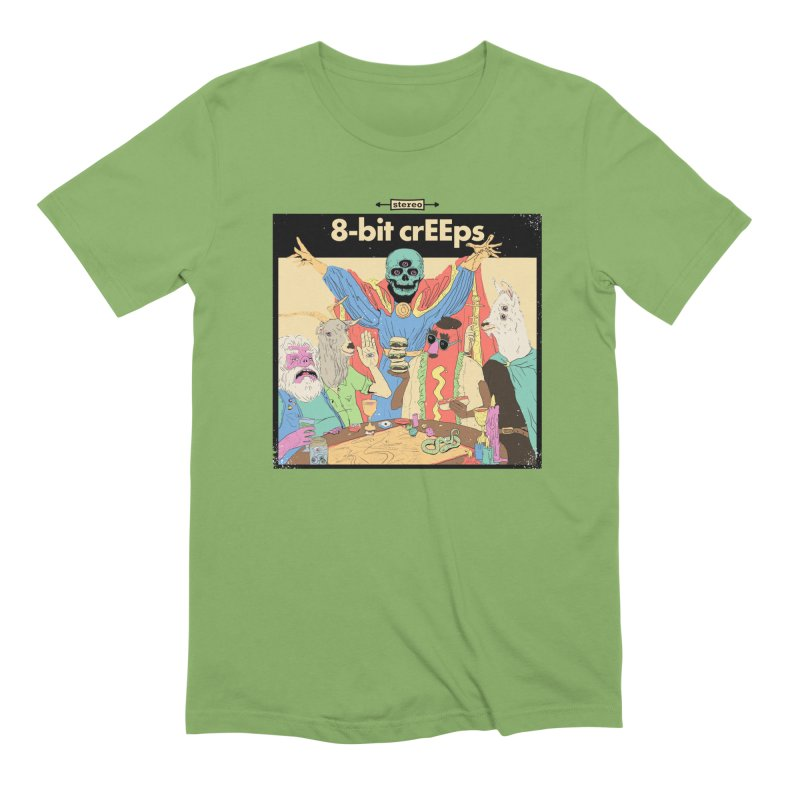 a strange little party in Men's Extra Soft T-Shirt Avocado by 8-bit crEEps Merch Shop
