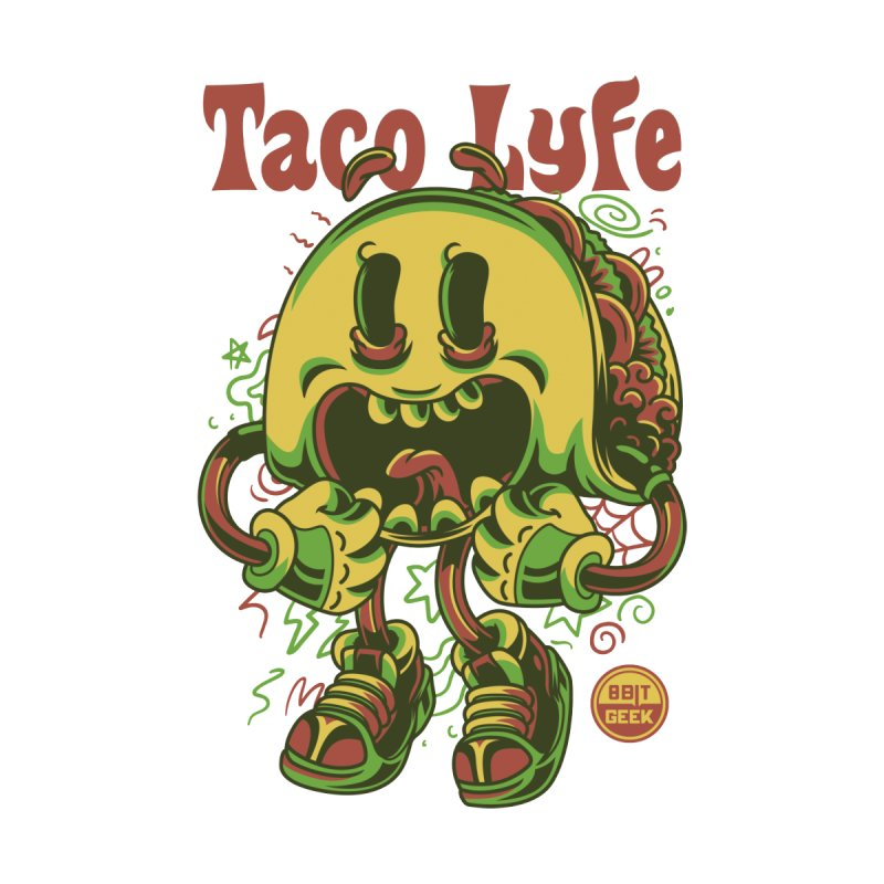 Taco Lyfe Men's T-Shirt by 8bit Geek's Artist Shop