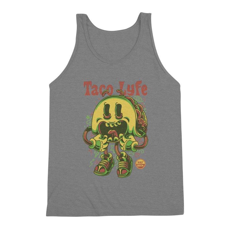 Taco Lyfe Men's Triblend Tank by 8bit Geek's Artist Shop
