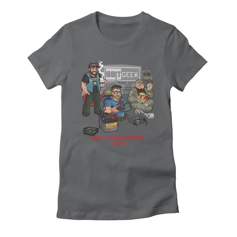 8bit horrorfest 2019 Women's Fitted T-Shirt by 8bit Geek's Artist Shop