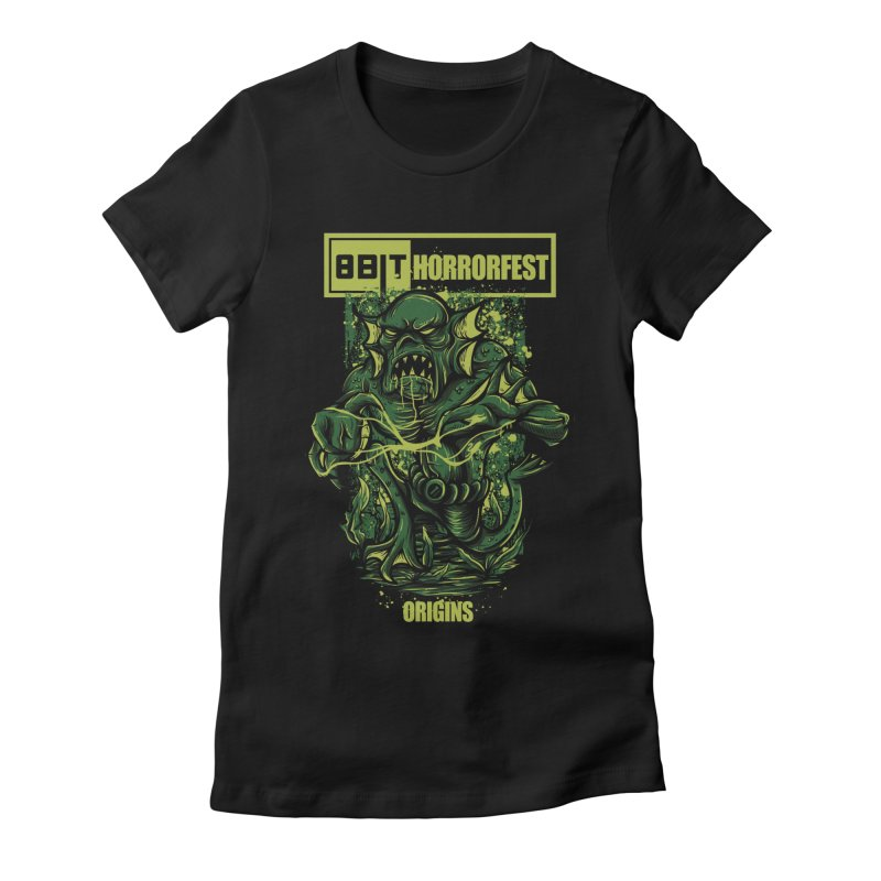 8bit Horrorfest 2017 Women's Fitted T-Shirt by 8bitgeek's Artist Shop