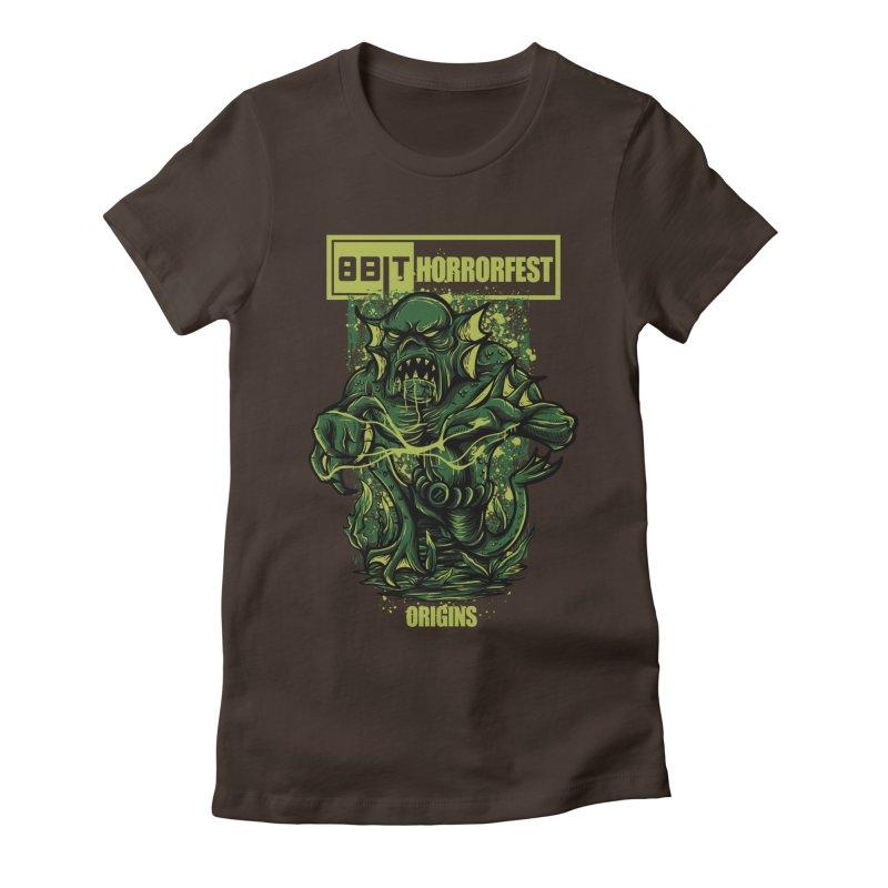 8bit Horrorfest 2017 Women's Fitted T-Shirt by 8bit Geek's Artist Shop