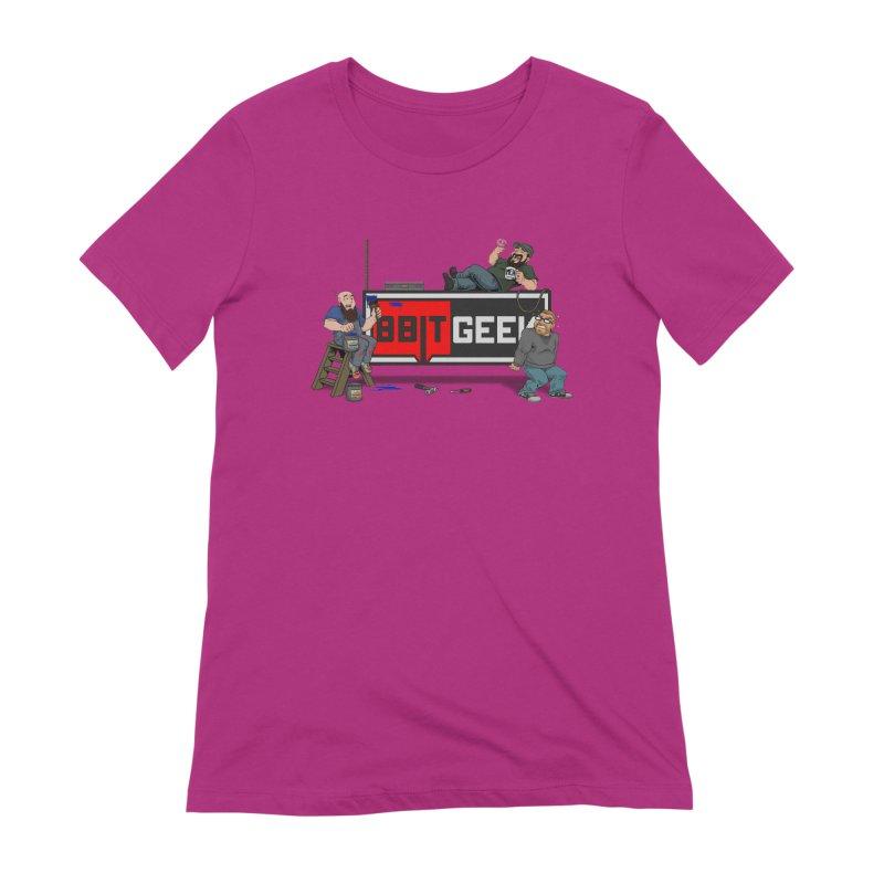 Under Construction Women's Extra Soft T-Shirt by 8bit Geek's Artist Shop