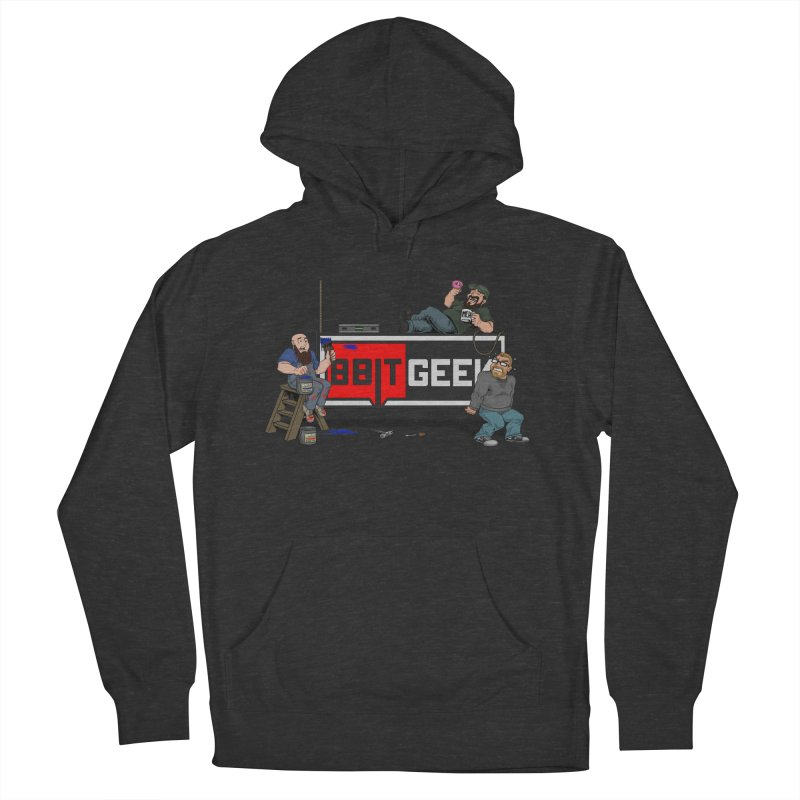 Under Construction Men's French Terry Pullover Hoody by 8bit Geek's Artist Shop