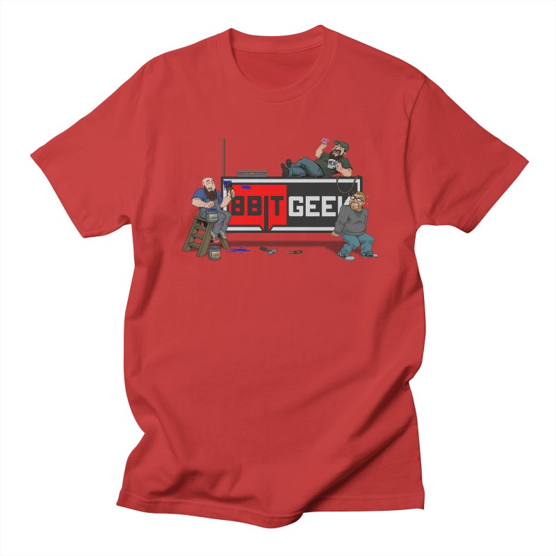Under Construction Men's T-Shirt by 8bit Geek's Artist Shop