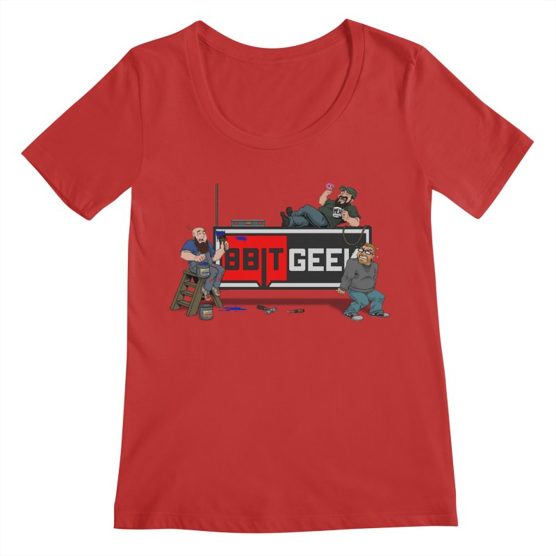 Under Construction Women's Regular Scoop Neck by 8bit Geek's Artist Shop