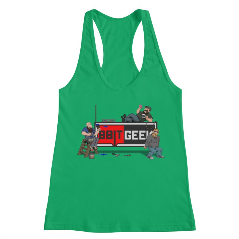 Under Construction Women's Racerback Tank by 8bit Geek's Artist Shop