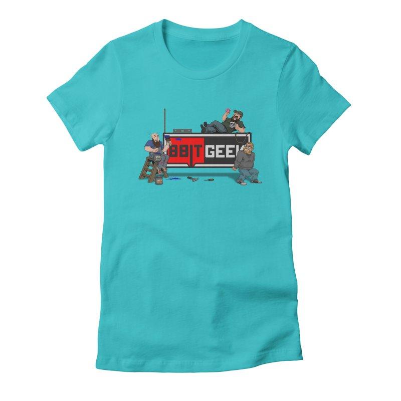 Under Construction Women's T-Shirt by 8bit Geek's Artist Shop