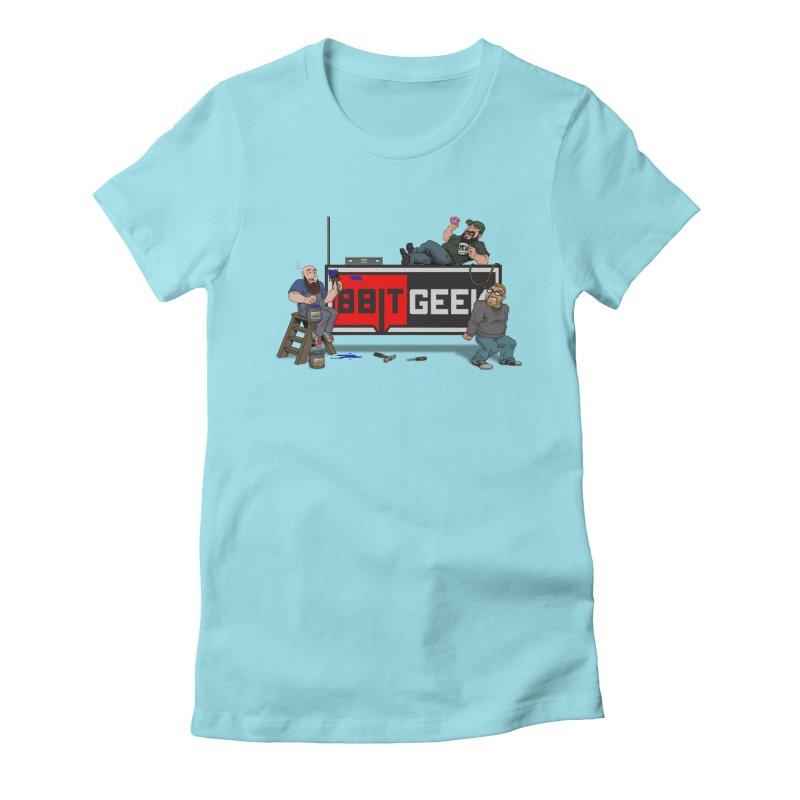 Under Construction Women's Fitted T-Shirt by 8bitgeek's Artist Shop