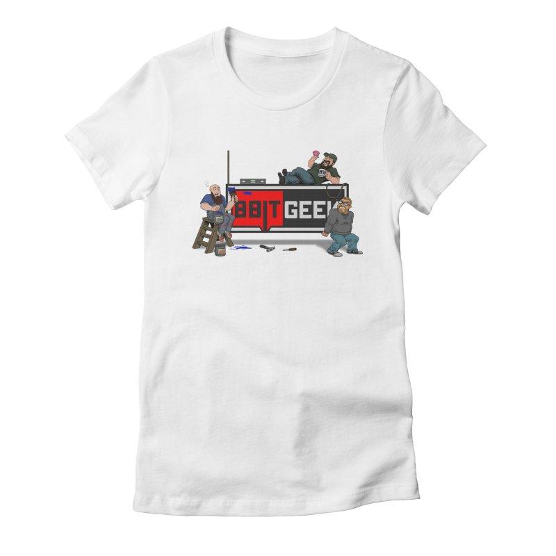 Under Construction Women's Fitted T-Shirt by 8bit Geek's Artist Shop